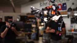 Strauß-ähnlicher Roboter hält Gleichgewicht ohne elektronische Regelung
