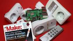 Make Magazin 6-18 vor mehreren smarten Steckdosen und Raspberry Pi