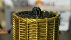 3D-gedruckter Korb mit Flechtstruktur