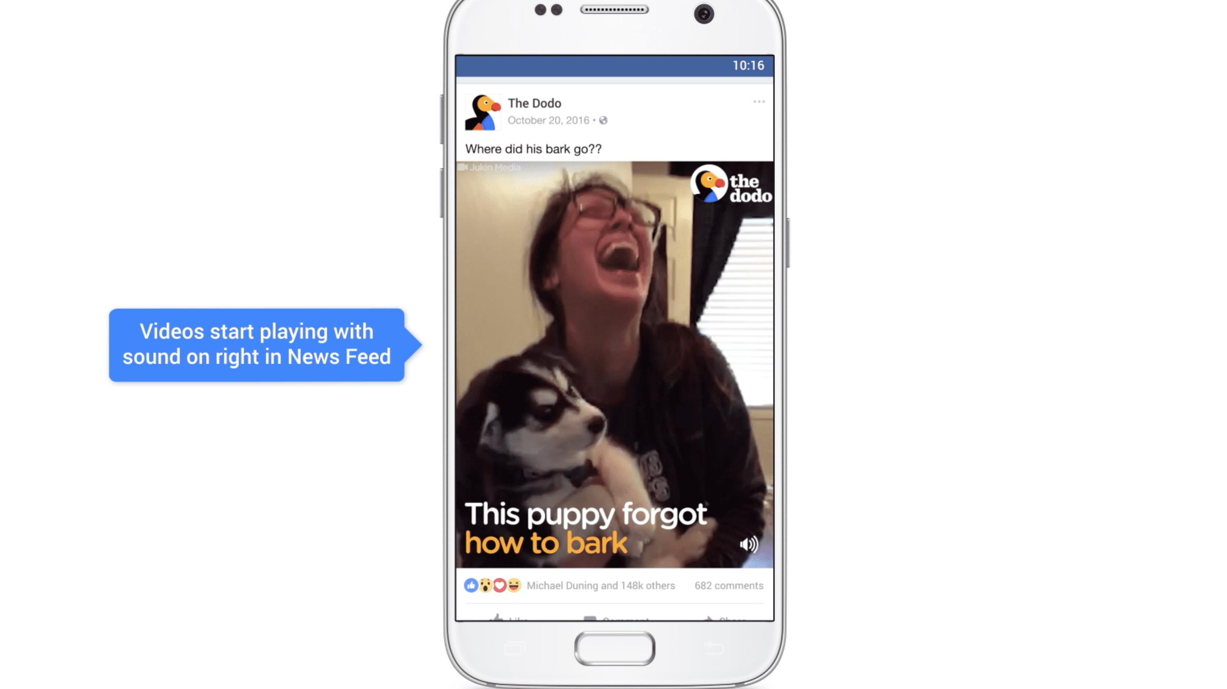 Facebook Video: Autostart mit Sound, Bild in Bild und Apps für Fernseher