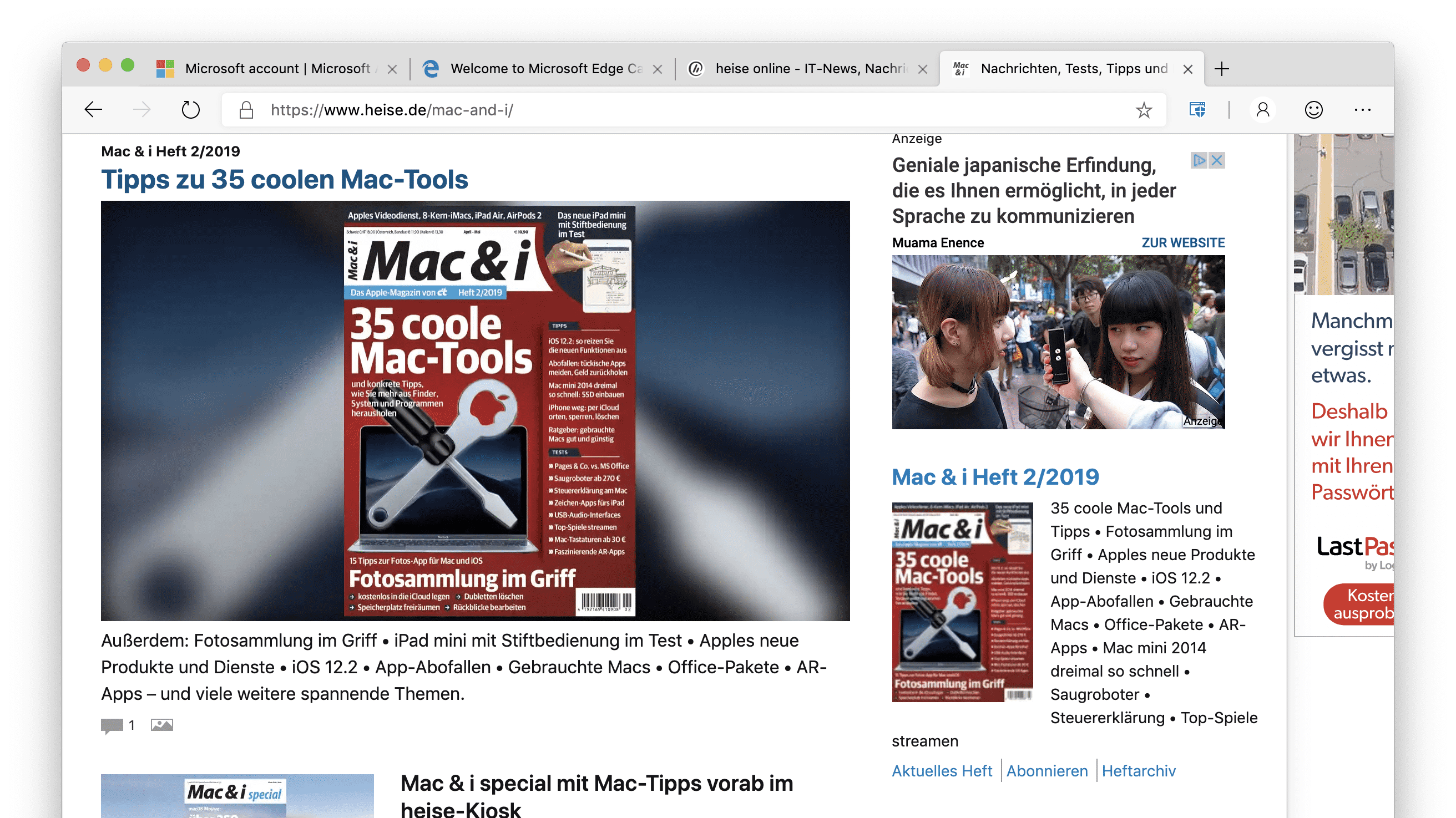 Microsoft lässt Edge-Browser auf den Mac