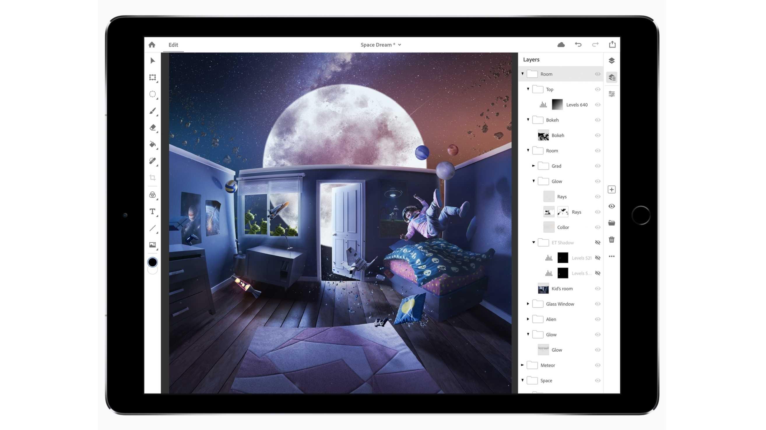 Photoshop CC auf dem iPad