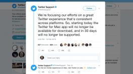 Twitter: ab sofort keine Mac-App mehr