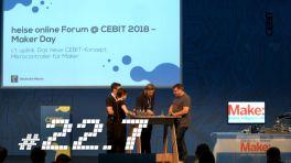 c't uplink 22.7 von der Cebit: Make-Projekte von Lasercutter bis Arduino