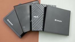 Vier externe CD/DVD-Brenner mit USB 2.0 im Vergleichstest