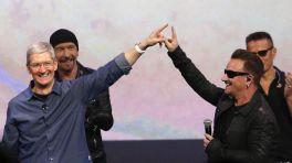 Apple-Chef Tim Cook und Bono