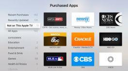 App Store für tvOS zeigt noch nicht installierte Apps