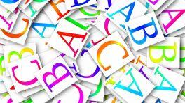 Bunte Buchstaben ABC
