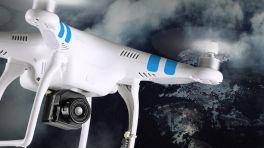 Weißer Quadkopter mit Vue Pro