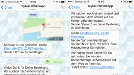 Taxi per WhatsApp jetzt auch bei MyTaxi