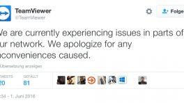 Fernwartungstool Teamviewer gestört