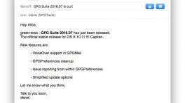GPG Suite: Endlich stabil für OS 10.11