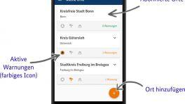 Katastrophenschutz-Apps: NINA ergänzt KatWarn