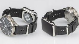 Doppelarmband kombiniert Apple Watch mit Analoguhr