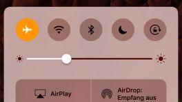 Flugmodus iOS 10