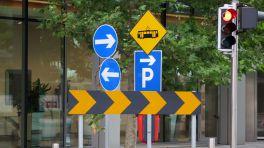 Verwirrende Verkehrszeichen