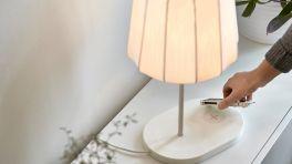 Qi-Ladegerät Lampe