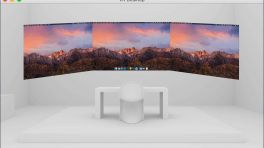 Mac-Desktop auf der VR-Brille