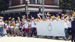 Apple-Mitarbeiter bei der Pride-Parade in San Francisco.