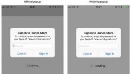 Passwort-Phishing in iOS: Apple hat ein Pop-up-Problem