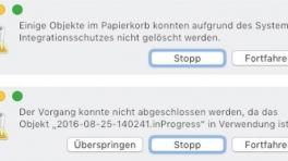 Mac Papierkorp leeren schlägt fehl