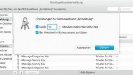 Mac-Schlüsselbund