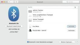 Bluetooth Mac Systemeinstellung