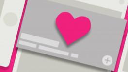 Screenshot mit rosa Herz