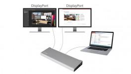 Thunderbolt-2-Dock mit Unterstützung für zwei DisplayPort-Bildschirme