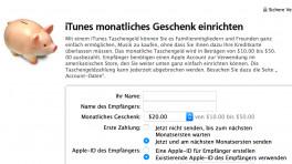 iTunes-Taschengeld