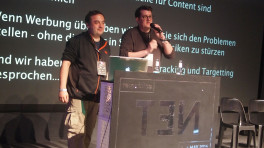 Frank Rieger (l.) und Thorsten Schröder auf der re:publica
