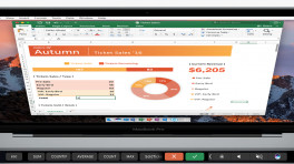 Touch Bar in Microsoft Excel