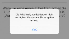 iTunes Remote Fehlermeldung