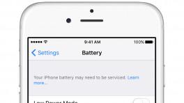 iOS 10.2.1 iPhone-Akkuwarnung