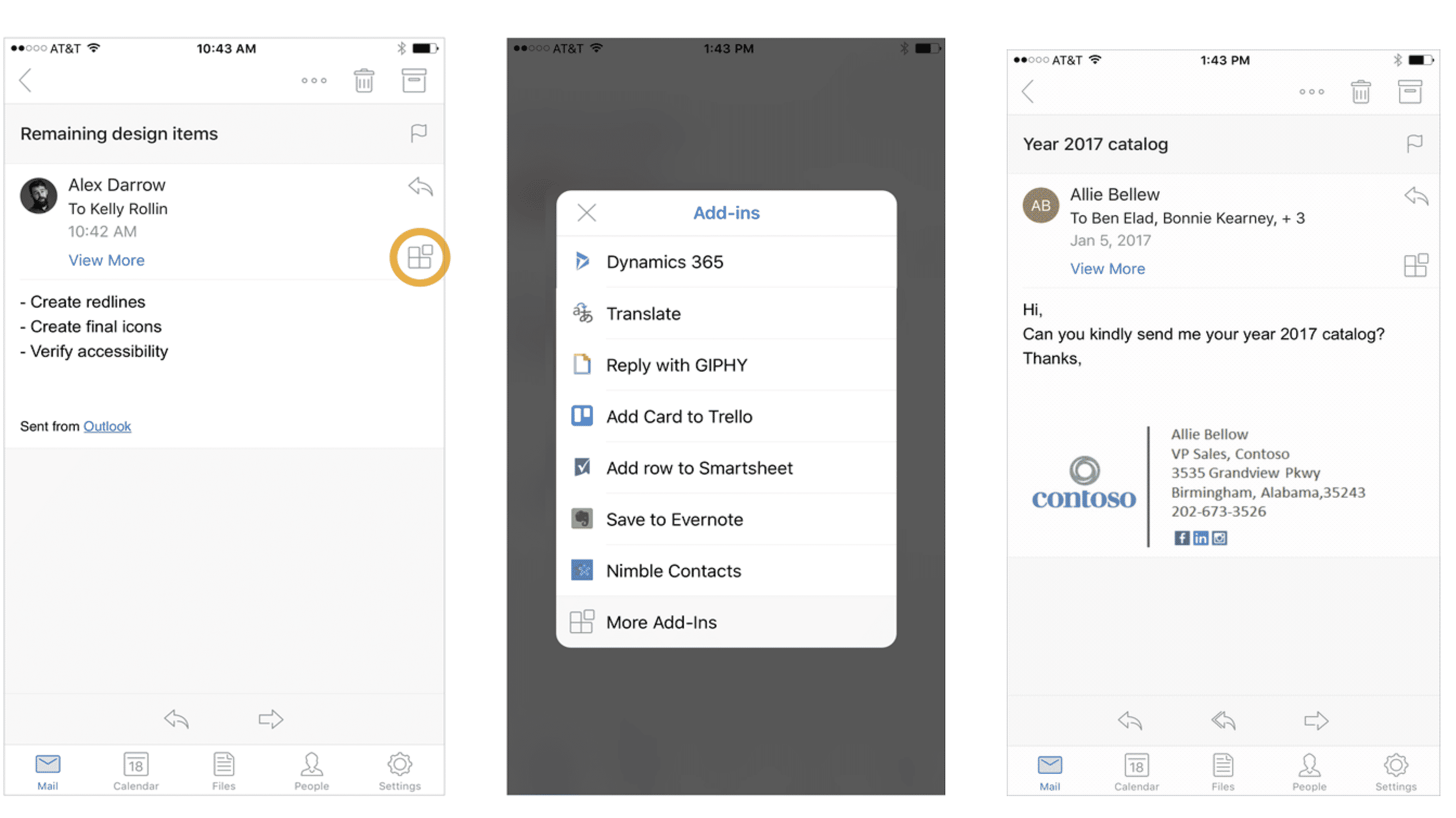 Outlook für iPhone und iPad integriert Drittanbieter-Apps