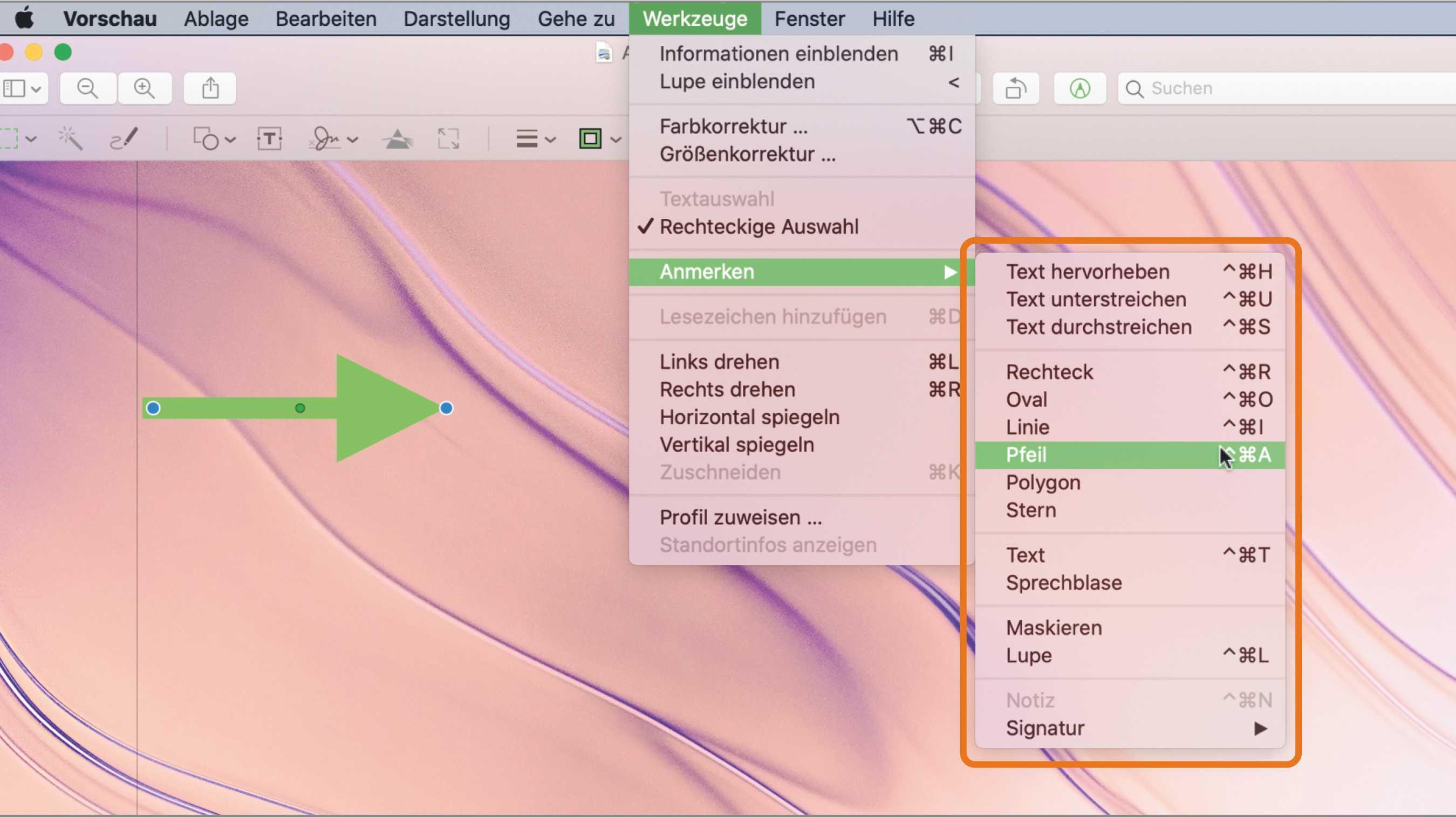 Tipp: In Vorschau auf dem Mac schneller Anmerkungen erstellen