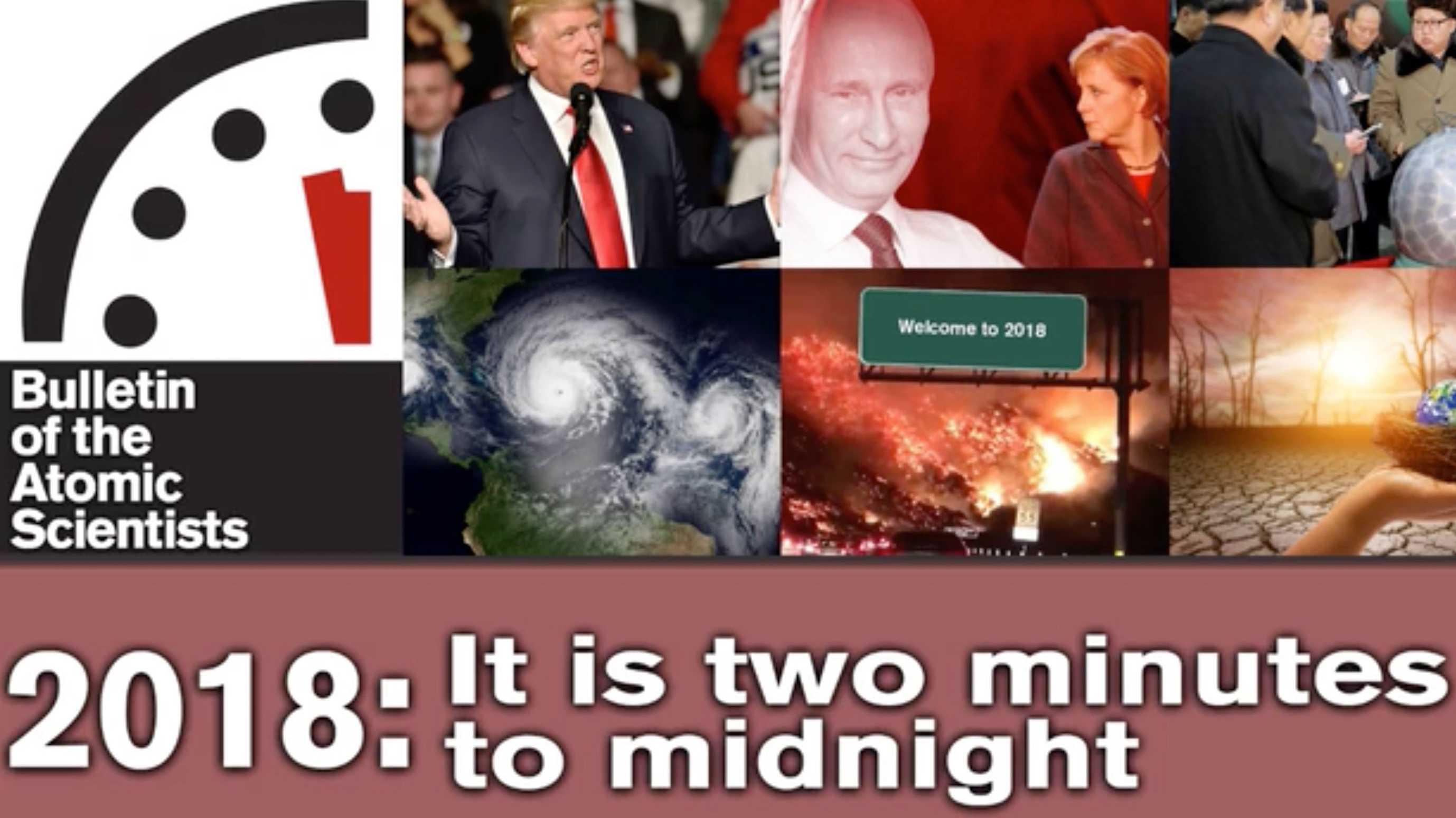 """Trump, nordkoreanische Raketen, fehlende Abrüstung: """"Weltuntergangsuhr"""" auf zwei Minuten vor zwölf vorgestellt"""
