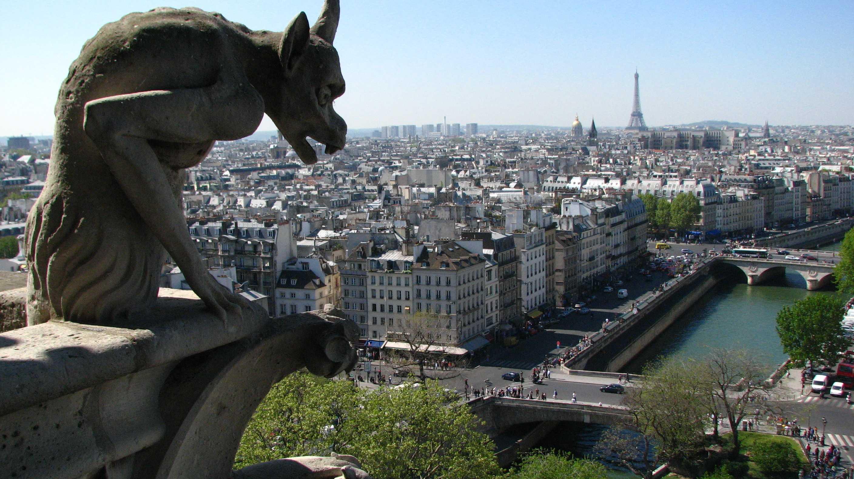 Gargoyle und Blick auf Paris