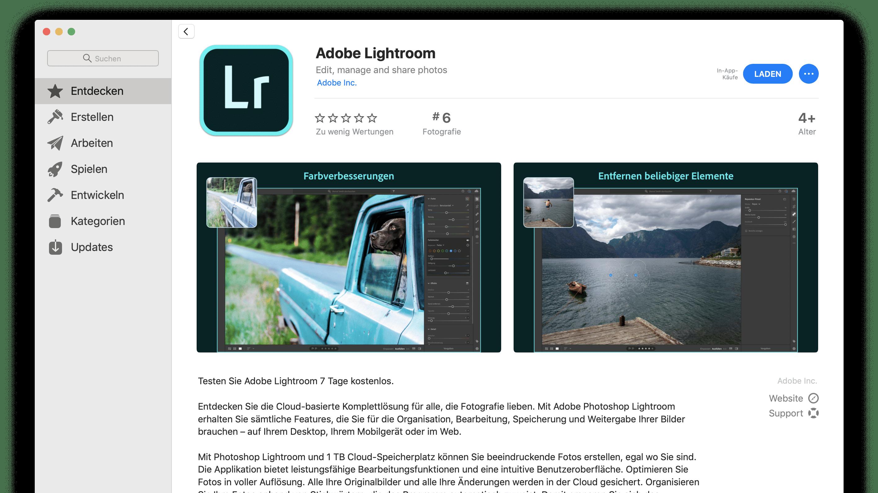 Lightroom im Mac App Store