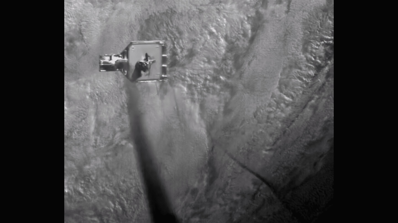 Weltraumschrott mit Harpune eingefangen