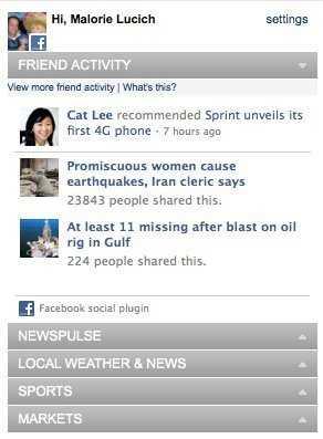 Facebook-Plugin bei CNN