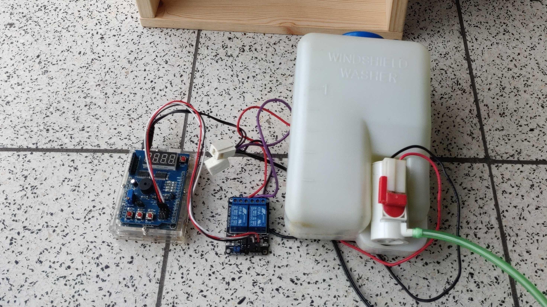 Blumengießanlage mit Arduino und Multi-Function-Shield