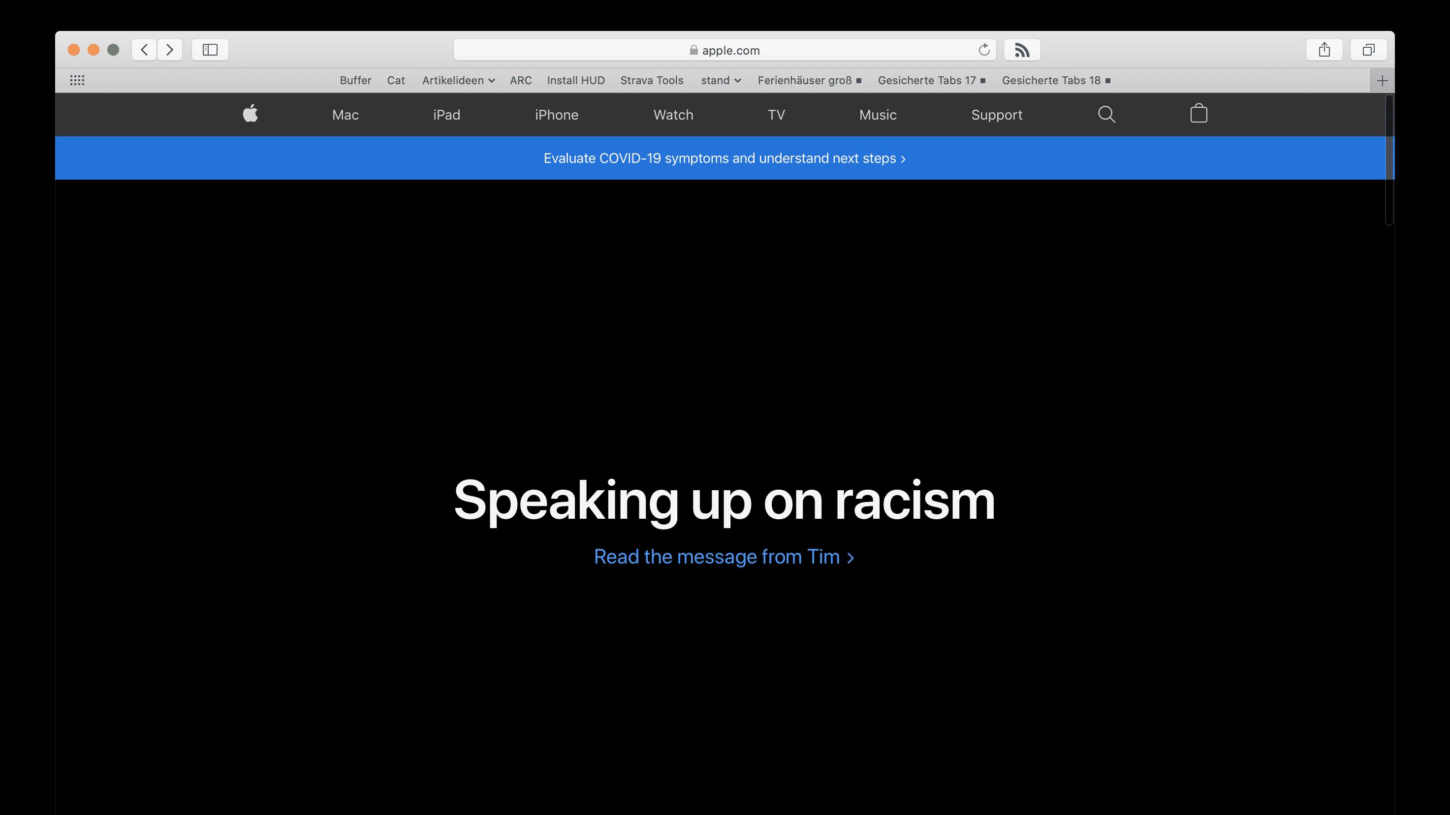 Apple mit offenem Brief gegen Rassismus