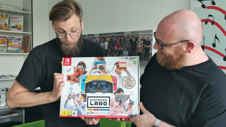 Nintendo Labo VR im Livestream: Wir basteln uns ein VR-Headset