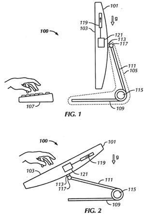 In Apples Patentantrag wechselt der iMac zwischen den Eingabemethoden, wenn man ihn in Richtung Tischplatte klappt.