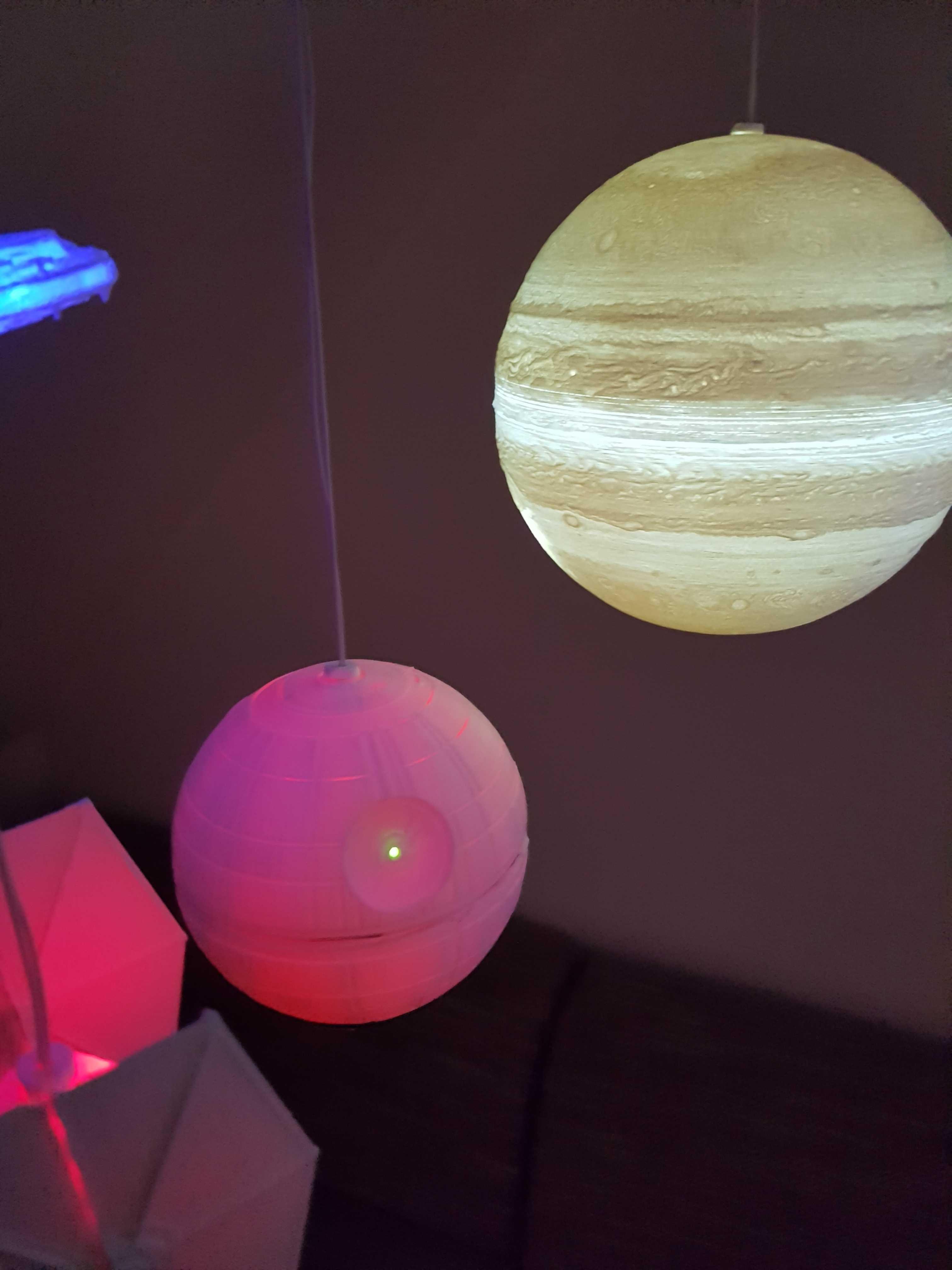 Beleuchtete Planeten
