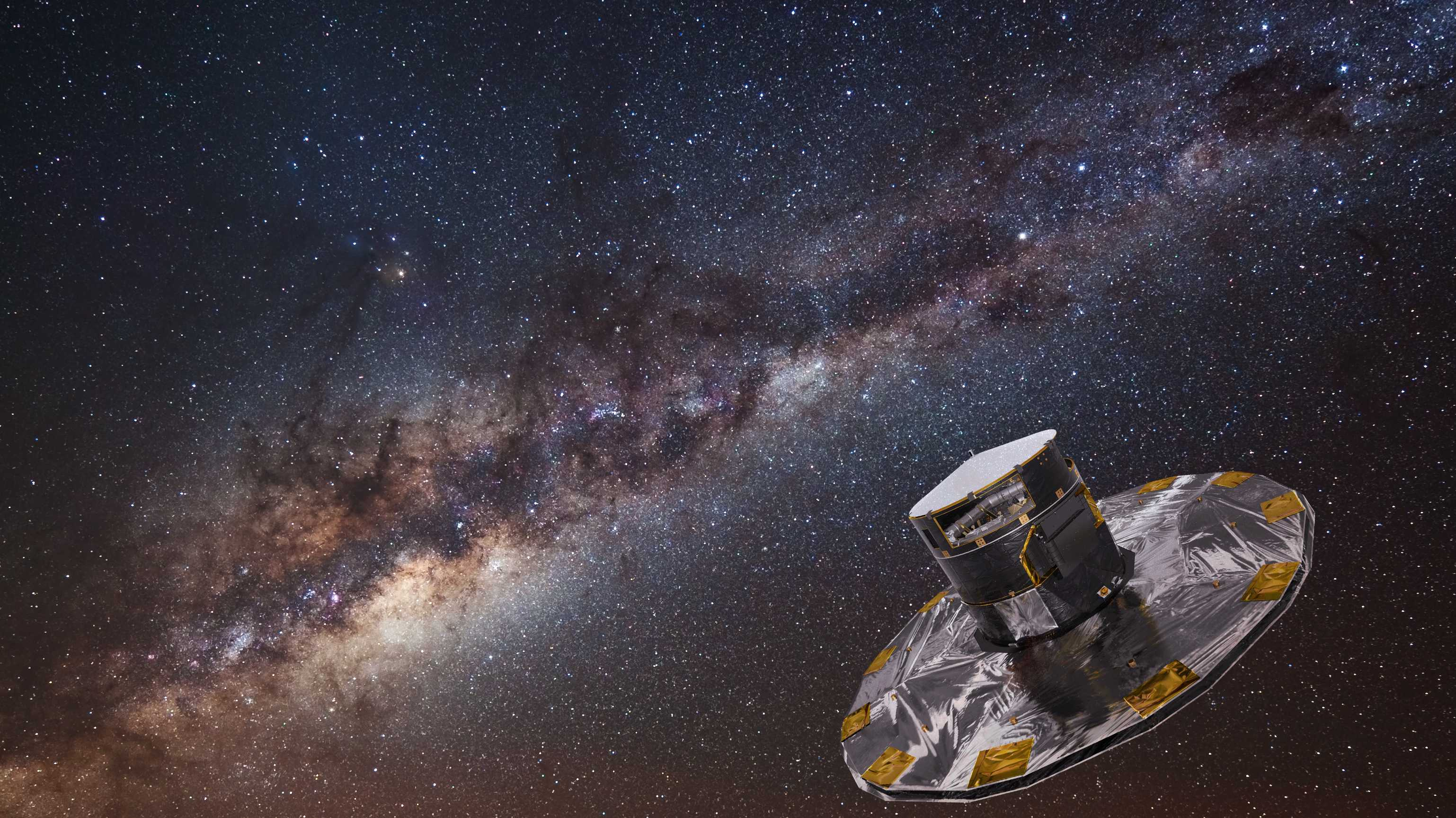 ESA-Weltraumteleskop Gaia: Korrektur-Manöver hält Sonde aus dem Erdschatten