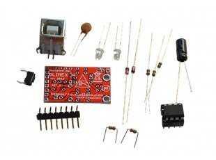 Olimexino-85 enthält einen ATtiny85 plus alle weiteren notwendigen Bauteile