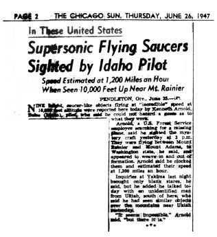 """Artikel in der """"Chicago Sun"""""""