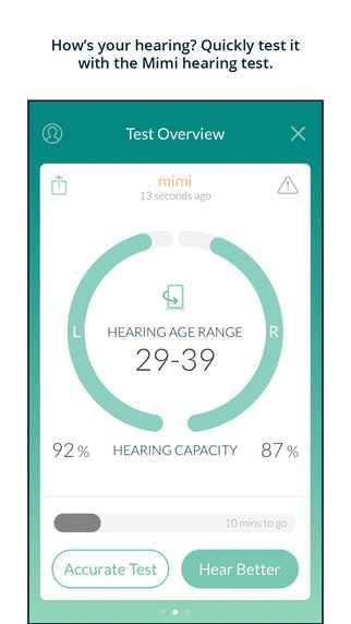 Mimi Hearing bietet einen kostenlosen Hörtest an.